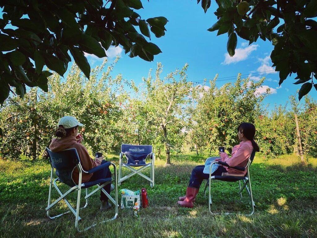 りんご農園 休憩