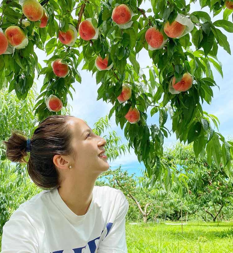 農業女子 桃